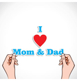 love for mom and dad concept vector image vector image