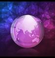 Luminescent snow globe vector image vector image