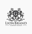 luxury golden royal lion king logo design vector image vector image