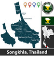 map songkhla thailand vector image