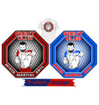 mixed martial arts set vector image