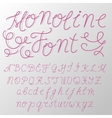 Monoline modern font script made by one line with vector image vector image