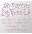 monoline modern font script made one line vector image vector image