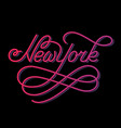 new york hand written city name vector image vector image