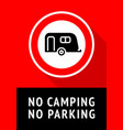 no camping trendy poster ready to print vector image vector image
