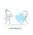 orthodontist patient receives a bad tooth vector image vector image
