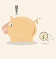 piggy bank icon with coin vector image vector image