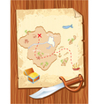 pirate map vector image
