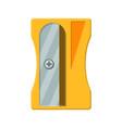 plastic pencil sharpener vector image vector image