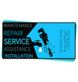 plumbing repair and service wrench in hand vector image vector image