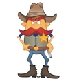 Portrait of sheriff vector image vector image