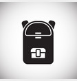 school backpack on white background vector image