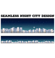 Seamless city at night design vector image vector image