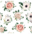 seamless pattern floral watercolor style design vector image