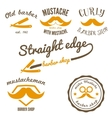 Set of vintage barber shop logo labels badges vector image vector image