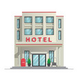 simple modern hotel building vector image vector image