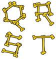 skull bone alphabet5 resize vector image