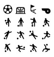 soccer football training icon set vector image vector image