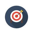 target with arrow on tripod flat icon smart goal vector image vector image