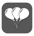 The balloons icon Fun and celebration birthday vector image
