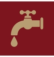The tap water icon Water symbol Flat vector image