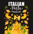 traditional italian pasta and seasonings vector image vector image