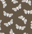 Unusual hipster seamless pattern with clothes moth vector image