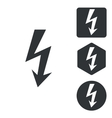 Voltage icon set monochrome vector image