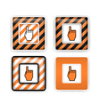 Warning or pointing signs vector image vector image