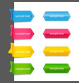 ribbon list of options vector image
