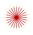 abstract firework sparks graphic vector image vector image