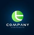 Alphabet small letter t logo icon design vector image vector image