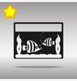 aquarium black icon button logo symbol vector image