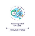 assets expected life cycle concept icon