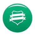 badge design icon green vector image vector image