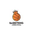 basketball crown king graphic logo vector image