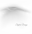 beautiful wave in white background vector image vector image