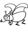 beetle insect cartoon for coloring vector image vector image
