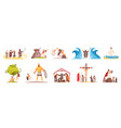 bible narratives characters set vector image vector image