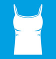 blank women tank top icon white vector image vector image