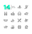 boats - modern thin line design icons set vector image vector image