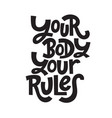 body positive quotes vector image vector image