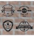 Bodybuilding black label set vector image
