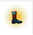 Boot comics icon vector image