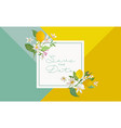 botanical wedding invitation card save date vector image vector image
