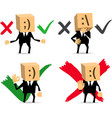businessman yes no do not know vector image
