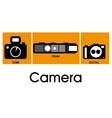 Camera equipment design vector image vector image