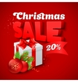 Christmas Sale with gift box vector image vector image