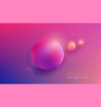 colorful gradient round shapes vector image