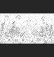 coloring book underwater landscape vector image